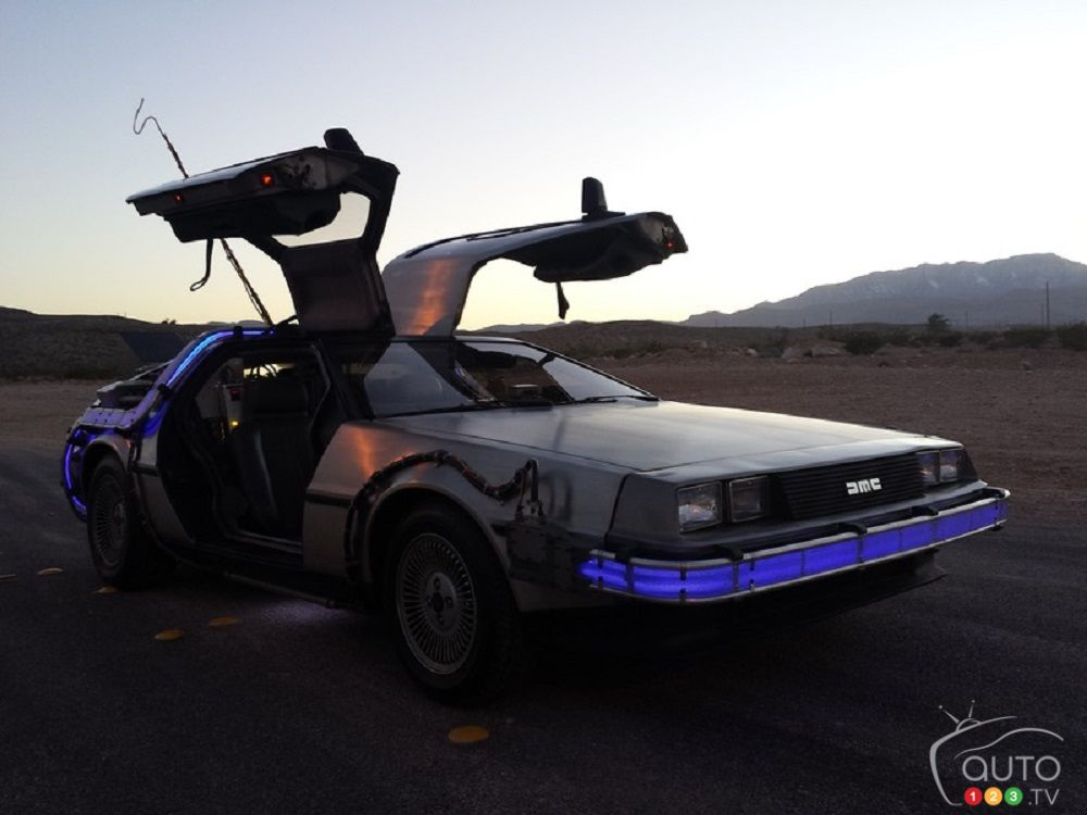 signed delorean from back to the future for sale on ebay car news auto123. Black Bedroom Furniture Sets. Home Design Ideas