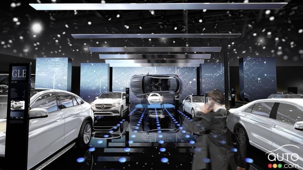 mercedes et ses voitures lectriques brilleront paris actualit s automobile auto123. Black Bedroom Furniture Sets. Home Design Ideas