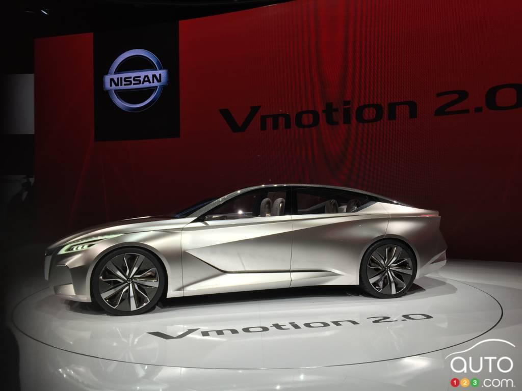 nissan d voile son futur avec le prototype vmotion 2 0 actualit s automobile auto123. Black Bedroom Furniture Sets. Home Design Ideas