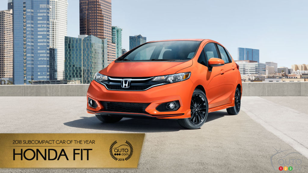 the honda fit our 2018 subcompact car of the year car news auto123. Black Bedroom Furniture Sets. Home Design Ideas