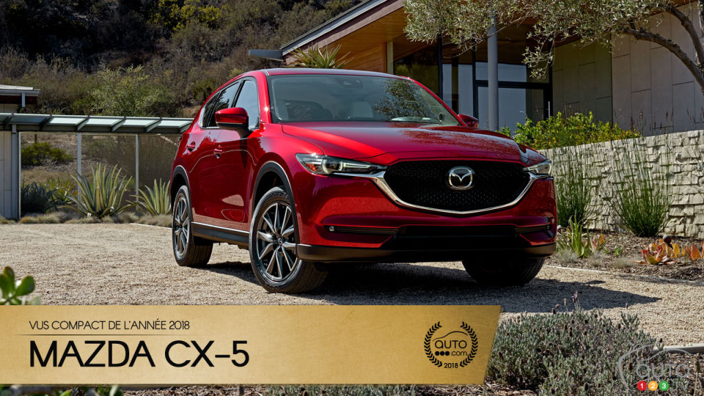le mazda cx 5 notre vus compact de l ann e 2018. Black Bedroom Furniture Sets. Home Design Ideas