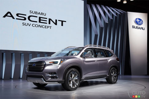 {u'en': u'The all-new Subaru Ascent, unveiled at the 2017 New York Auto Show'}