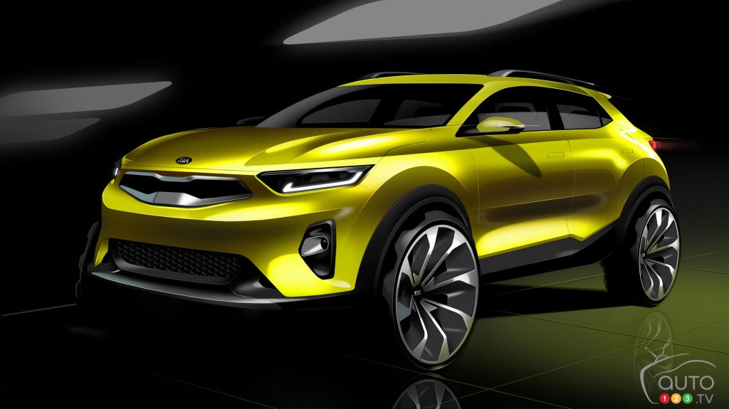 Kia Motors renders its new compact SUV Stonic