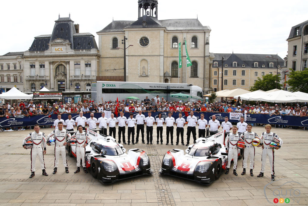 Timo Bernhard leads Porsche to third straight Le Mans 24 Hours triumph