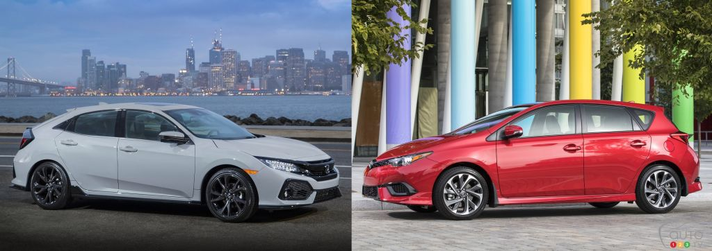 Toyota Sedan Models List >> 2017 Honda Civic Hatchback vs 2017 Toyota Corolla iM | Car Reviews | Auto123