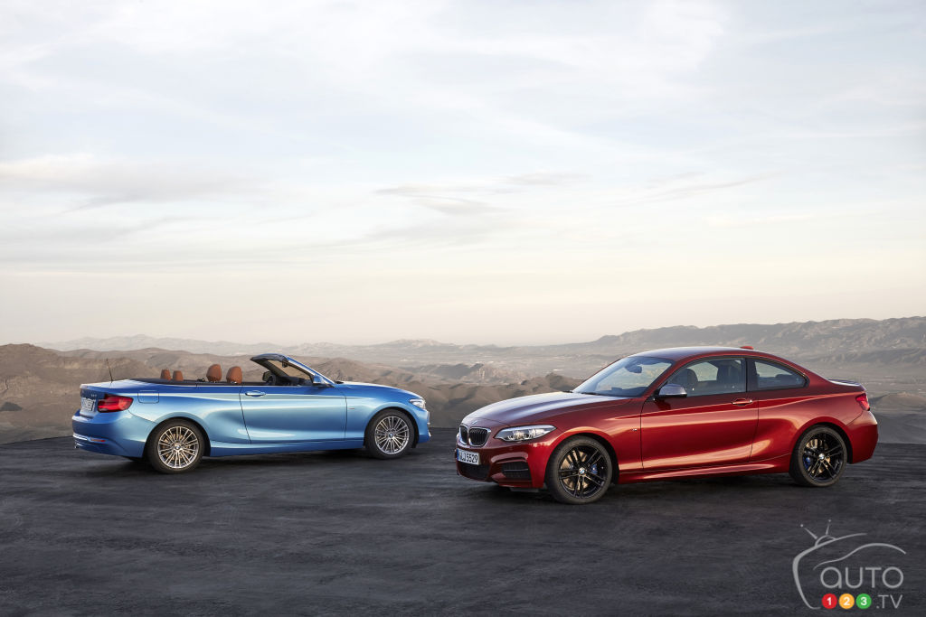 2018 bmw 2 series. simple series closeup of the 2018 bmw 2 series coupe and cabriolet  car news auto123 to bmw series