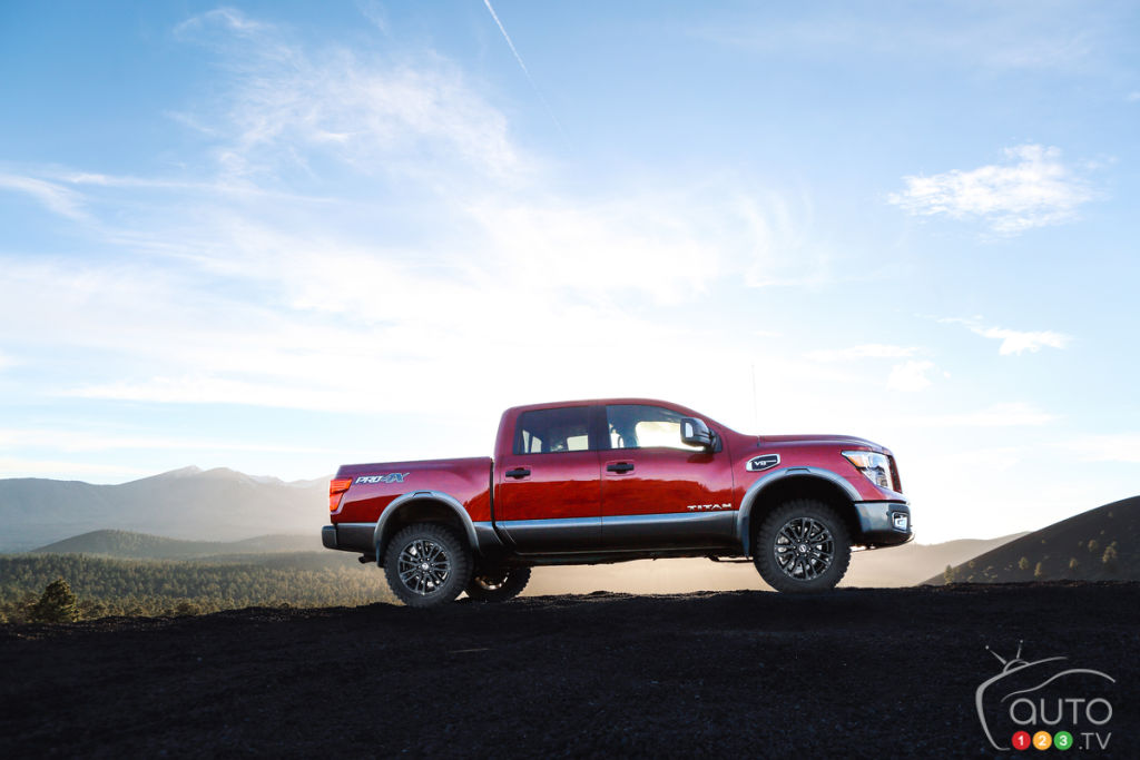 Nissan Titan gets a lift kit