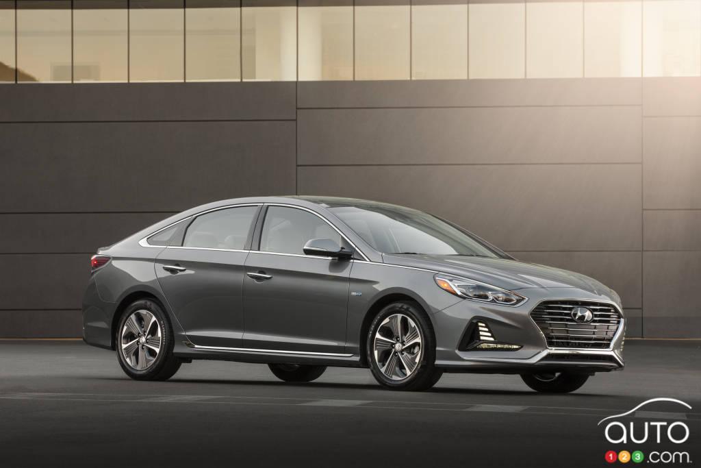 Hyundai Sonata hybride 2018 au Salon de l'auto de Chicago ...
