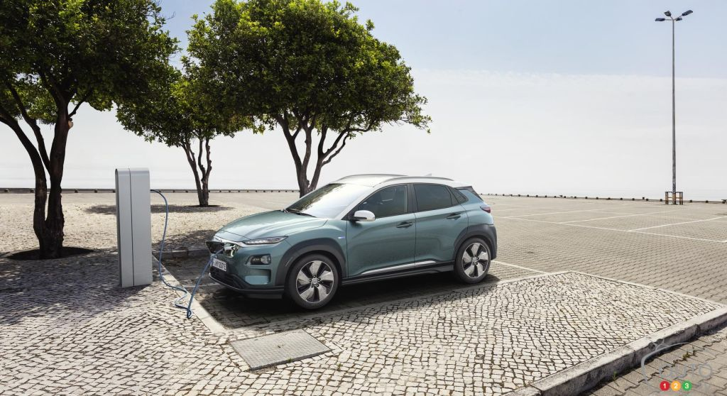 The Hyundai Kona Electric is a little plug-in SUV