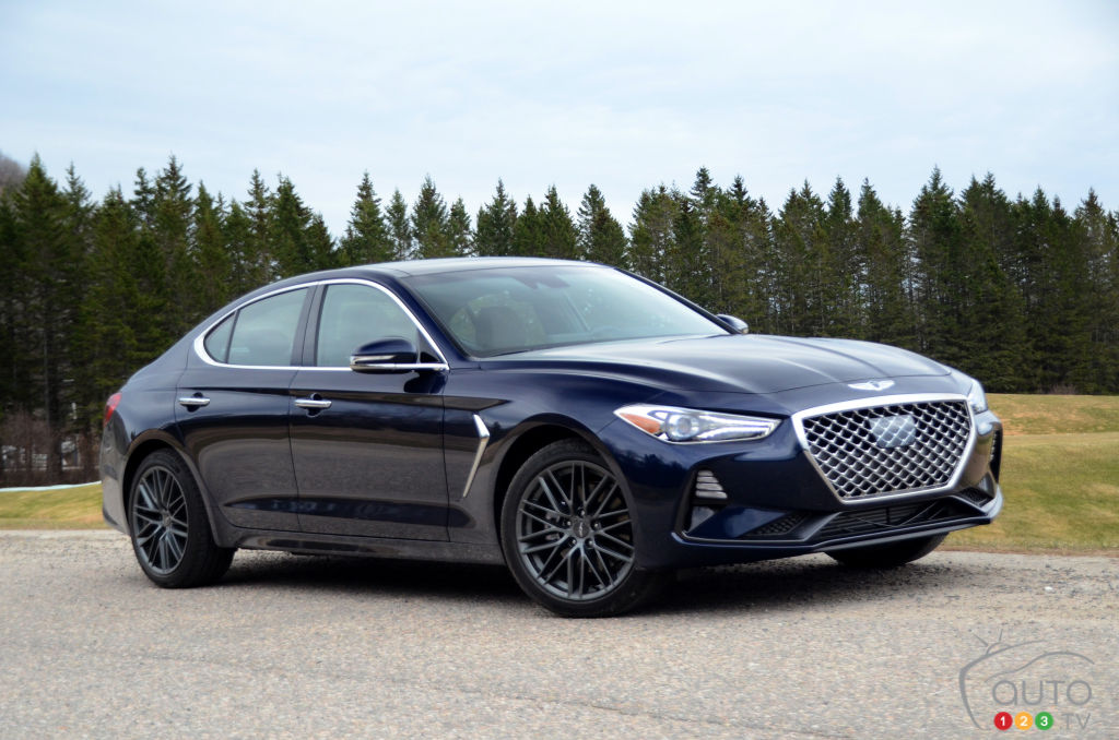 Our First Drive Of The 2019 Genesis G70 Car Reviews Auto123
