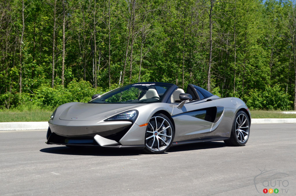 review of the 2018 mclaren 570s spider car reviews auto123. Black Bedroom Furniture Sets. Home Design Ideas
