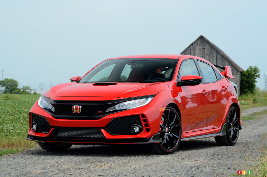 2018 honda civic type r review car reviews auto123. Black Bedroom Furniture Sets. Home Design Ideas
