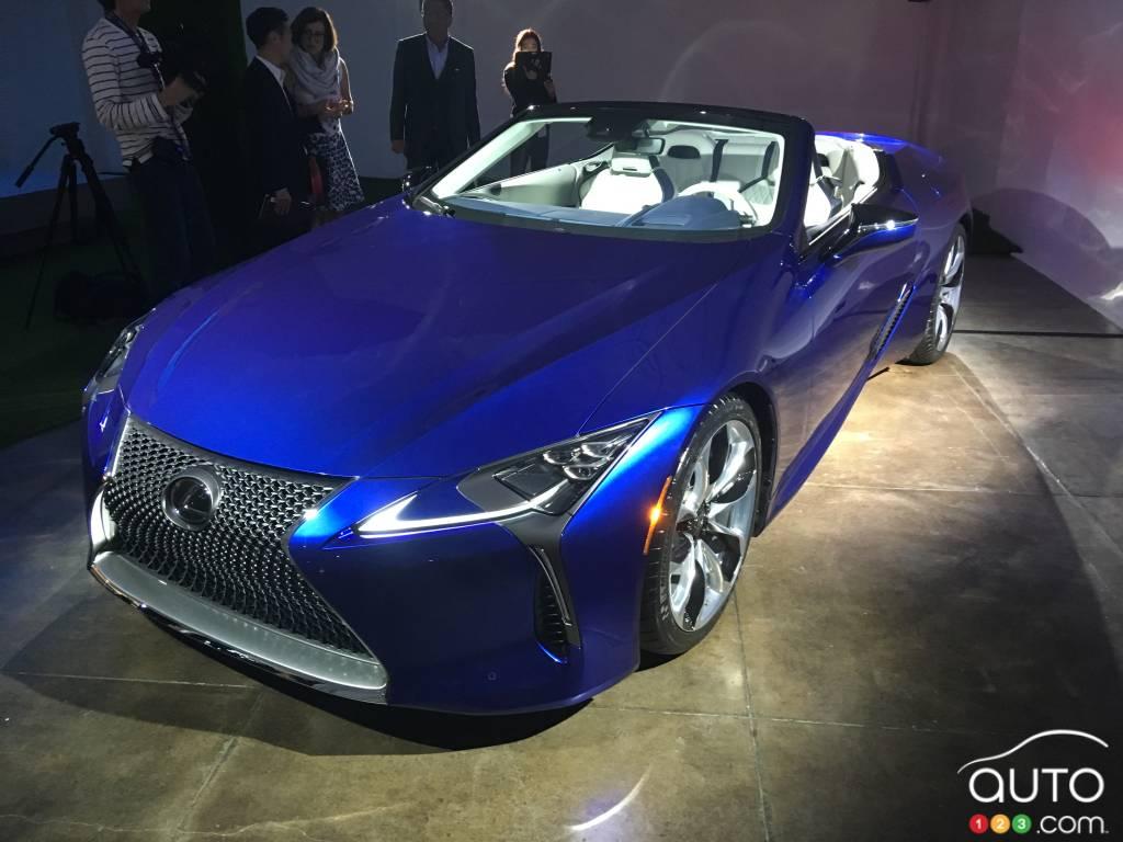 Los Angeles 2019: 2021 Lexus LC 500 convertible premieres ...