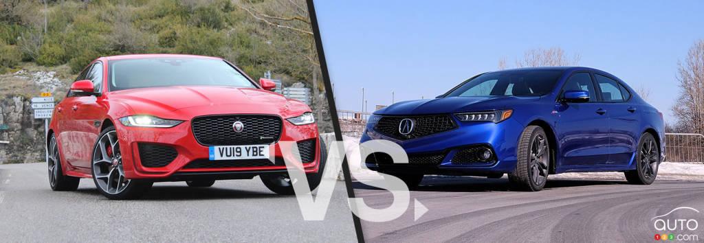 comparison  2020 acura tlx vs 2020 jaguar xe