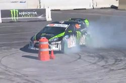 Ken Block video from the 2010 SEMA Show: Drift king - You've seen what Ken Block can amazingly do with a Ford Fiesta in his Gymkhana videos. At the 2010 SEMA show in Las Vegas, he flashed his world-class skills on a closed course.