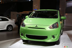 No illusion - Mitsubishi Canada introduces a new 5-door subcompact hatchback. Available in the fall of 2013, it will be called Mirage. The goal is clear: to offer great fuel economy and value. The 1.2L 3-cylinder engine under the hood will produce 74 horsepower and as many pounds-feet of torque.