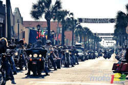 2011 Daytona Bike Week video: Motorcycle gods and aficionados flocked to Daytona last week for the 70th anniversary of the city's prestigious Bike Week. Moto123.com was on site, recording the orgy of festivities for your enjoyment, dear reader, so that you may bask in the jubilant urban atmosphere and the eclectic mix of shows, exhibits, demo rides, beaches and parts and accessories!