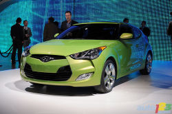 More than meets the eye - One of the most anticipated new vehicles at the 2011 NAIAS was the Hyundai Veloster. It delighted visitors and journalists by offering the style of a coupe, the functionality of a hatchback, and great rear-seat access thanks to its third door that incorporates a handle in the C pillar.