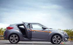 Funky and fun - The Hyundai Veloster is compact, sporty and frugal while also being practical thanks to a third door and generous rear cargo bay.