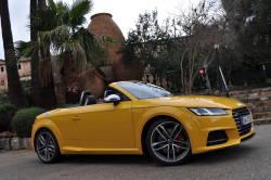 Audi a dévoilé la 3e génération de sa TT Roadster et de sa TTS Roadster. La nouvelle TT Roadster offrira 3 motorisations. Le toit est équipé de 2 moteurs électriques permettant l'ouverture ou la fermeture jusqu'à une vitesse de 50 km/h en 10 secondes. La calandre Singleframe est large et plate et similaire à celle de l'Audi R8; les 4 anneaux de la marque se trouvent sur le dessus du capot, à la manière des véhicules de haute performance.