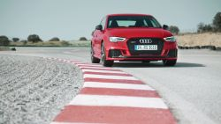 The 2018 Audi RS3 Sedan made its North American debut at the New York Auto Show.