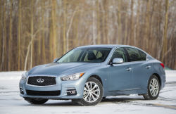 "Its history is littered with past identities and began with the Infiniti G20 in the '90s in North America. The G20 lasted into the 2000s, until the rear-wheel drive G35 appeared. Essentially, the Infiniti Q50 is the company's ""entry level"" vehicle. There is also a hybrid version of the Q50."
