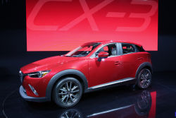 Mazda debuts the all-new 2016 Mazda CX-3 at the 2014 Los Angeles Auto Show. The new compact crossover SUV is the fifth model in Mazda's line-up of new- generation vehicles.