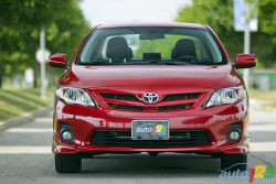 The 2011 Toyota Corolla's standard 1.8L 4-cylinder engine provides a fair dollop of torque down low and a 132 hp rating, which isn't much but at least fuel economy is good.