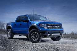 A beast - Everything about the Raptor is on a different scale. The flared wheel arches are the biggest giveaway that the SVT-tuned F-150 is purpose-built.