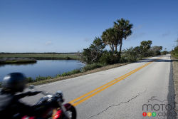 Video of the most beautiful roads at the 2012 Daytona Bike Week: Launched in 1937, the legendary Bike Week in Daytona Beach now brings together more than 200,000 riders and enthusiasts from all over the world. Most of them attend the event for two reasons: party hard and ride with friends on the open roads of the Sunshine State, flanked by exotic beaches and eerie wetlands. The thrills never stop.
