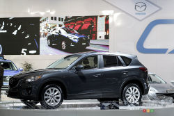 2013 Mazda CX-5 video from the Montreal Auto Show (french): The 2013 Mazda CX-5 is another grand slam touchdown for Mazda. What consumers have been asking for is a compact family mover that's got style and dislikes fuel. Mazda has delivered.