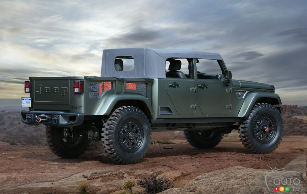 Jeep Crew Chief 715 Concept rear 3/4 view