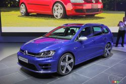 Volkswagen presented 2016 Golf R SportWagen at the 2014 Los Angeles auto show and we have a picture gallery.