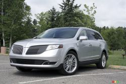 """Luxury truck - Standard features on the 2013 Lincoln MKT include, among other things, a power liftgate, rear A/C and heated second-row seats, power-adjustable and ventilated front seats, a panoramic glass roof, leather upholstery, SYNC, a rearview camera, adaptive HID headlights, and 19"""" alloy wheels."""