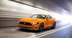 The new 2018 Ford Mustang, unveiled in Los Angeles, is the most advanced yet – minus the V6!