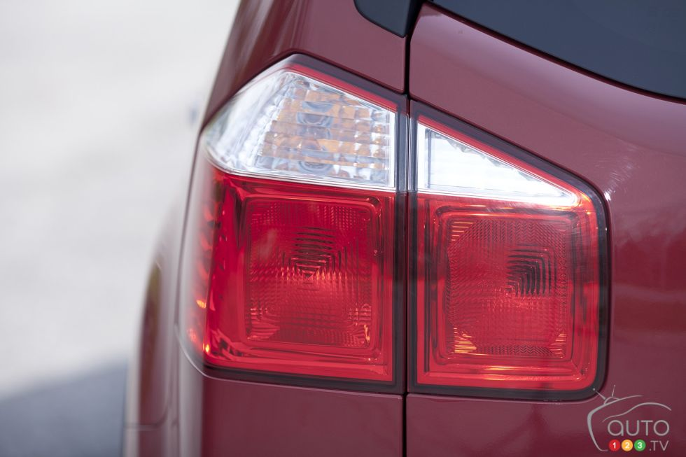 Rear left taillight