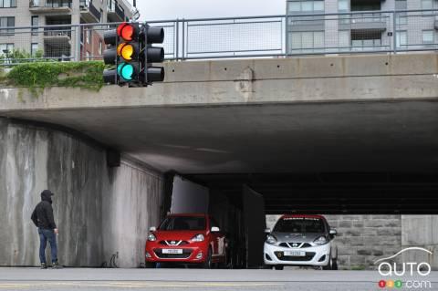 Tournage publicité Nissan à Montréal