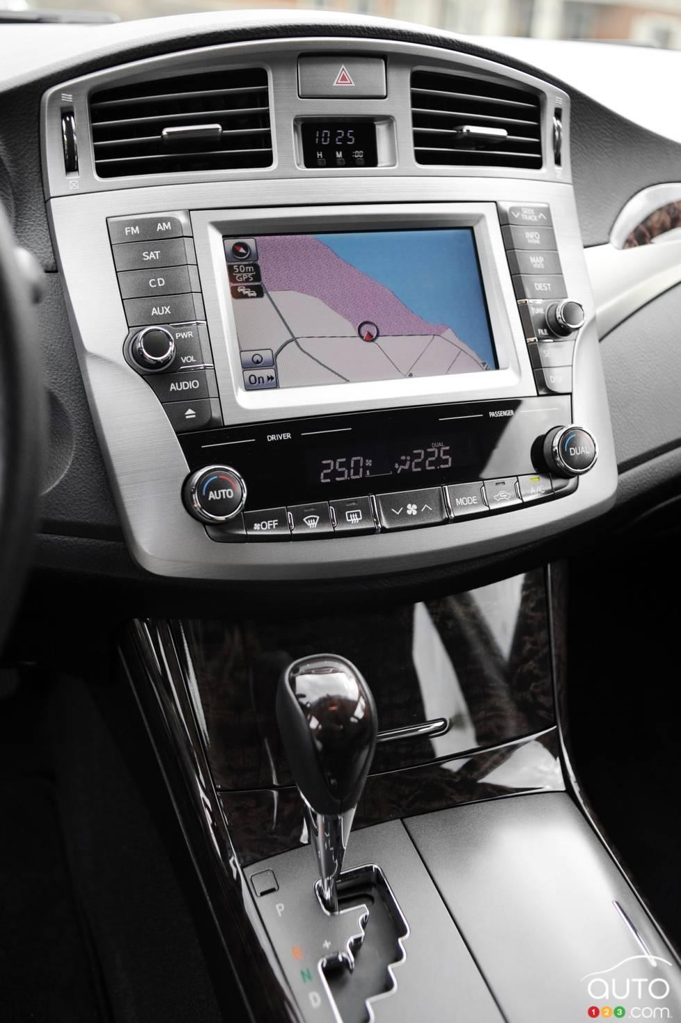 Navigation system screen