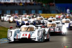 2013 Le Mans 24 Hours pictures: As the No.1 Audi R18 e-tron quattro of Andre Lotterer-Marcel Fassler-Benoit Treluyer took the chequered flag at 3 pm on Sunday, Audi Sport today secured their 11th victory at the 24 Hours of Le Mans.
