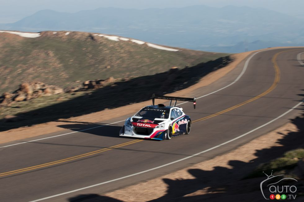 sebastien leob unlimited class world record holder peugeot 208 t16 pikes peak on. Black Bedroom Furniture Sets. Home Design Ideas