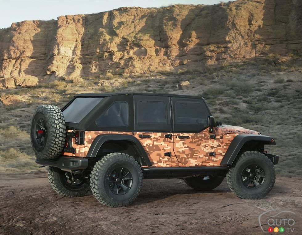 Jeep Trailstorm Concept rear 3/4 view