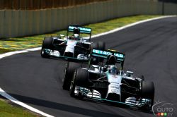 Pictures from the F1 Brazilian Grand-Prix 2014: Nico Rosberg reduced Lewis Hamilton's lead in the drivers' championship to 17 points with one race to go before the end of the season, Sunday, by winning the Brazilian Grand Prix.