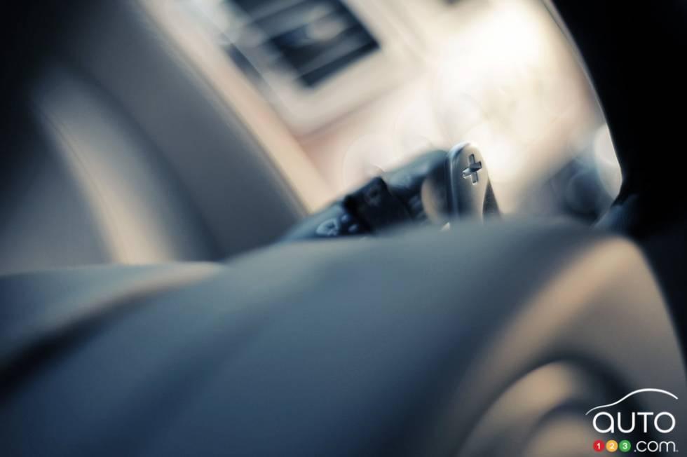 Steering wheel close-up