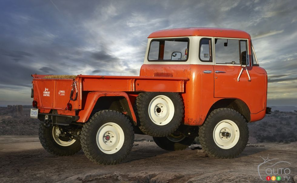 Jeep FC 150 Heritage Vehicle rear 3/4 view