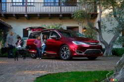 The 2017 Chrysler Pacifica features 2 sliding door and it's not a SUV anymore...