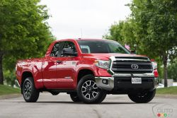 The 2015 Toyota Tundra is ready to work with impressive towing capacity, choice of 4.6L and 5.7L engines, and Regular, Double Cab, and CrewMax models. Tundra is ready for any project. It's time to roll up your sleeves.