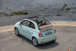 2016 Fiat 500 convertible top view