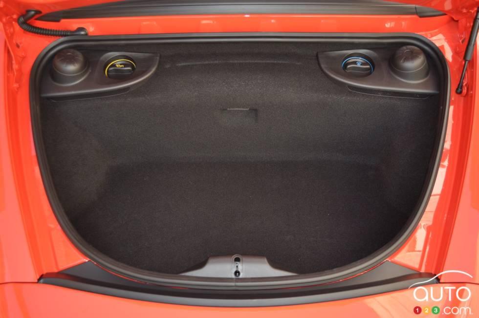 2017 Porsche 718 Boxster S rear cargo area