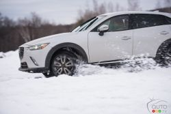 2016 Mazda CX-3 playing in the snow