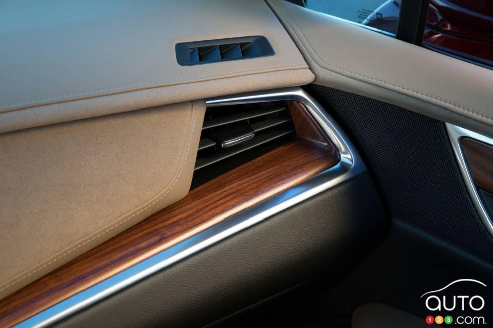 Détail intérieur du Cadillac XT5 2017